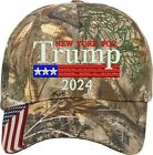 New York for Trump US Flag 2020 Political Gift One Size Fits All Embroidered Hat