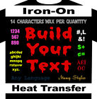 One Color ONLY Build Your Text Iron On Custom Heat Transfer Vinyl