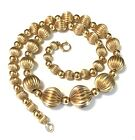 HARRY S BICK  1/20 12k Gold Filled GF Fluted Graduated Bead Necklace HSB