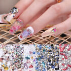 3D Nail Rhinestones Acrylic Beads Sharp Bottom Crystal AB Color Nail Art Decors