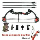 US Compound Bow Set Adjustable Twin Cam  Practice Archery Bow Designed 15-29lbs