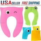 Toddler Kids Baby Folding Potty Seat Cover Toilet Training Seat Pad Safe