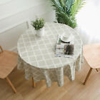 Geometric Print Table Cloth Round Shape Wedding Party Home Decoration Cover