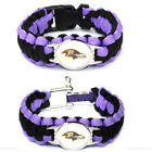 Sports Outdoor Camping Jewelry Baltimore Ravens Woven Paracord Survival Bracelet on eBay