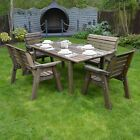 Barrowden Outdoor Wooden Garden Dining Set / Table / Patio Furniture - 6 Seater