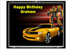 """Buy """"Transformers Bumblebee 10"""" x 8"""" Cake topper on icing or wafer paper D1"""" on EBAY"""
