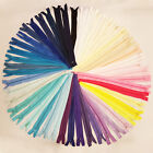 "No.3 NYLON CLOSED END  ZIPS * 4 5 6 7 8"" 49 COLOURS* ZIPPER SEW BUY 5 GET 5 FREE"