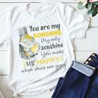 Elephant Son You Are My Sonshine You Make Me Happy T Shirt White Ladies S-3XL