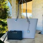 NWT MICHAEL KORS MK MEDIUM CARRYALL TOTE HANDBAG+DOUBLE ZIP WALLETOPTIONS