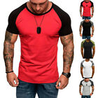 Men Fashion Summer Gym Sports Casual Camouflage Short Sleeve Slim Fit T-Shirt image