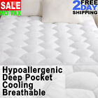 Quilted Fitted Pillow Top Queen Size Mattress Pad Cover Topper Full King Twin image