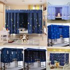 Single Bed Curtain Students Dormitory Bunk Bed Nets Dustproof Blackout Fabric image