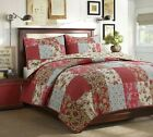 Adeline Patchwork Reversible Cotton Quilt Set, Bedspread, Coverlet image