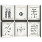 Golf Set of 6 Patent Prints Blueprint Decor Vintage Poster Wall Art Gift