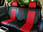 Leather Like Rear Split Zip Type Car Seats Covers for Dodge Black/Red #255 $45.0 USD on eBay