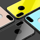 For iPhoneX Case Fashion Soft Silicone TPU Tempered Glass Phone Case Shoc KBE