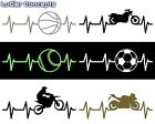 Heartbeat Vinyl Sticker Sports Decals | Heart Beat Symbols | Multiple Options! $5.99 USD on eBay