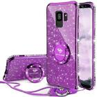 Samsung Galaxy S9 Phone Case, Glitter Cute Case with S9-Purple