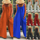 US STOCK Women Dungarees Harem Strap Pant Loose Jumpsuit Baggy Trousers Overalls