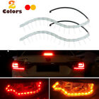 2X Switchback Red LED Strip Lights w/ Amber Sequential Signal For Taillight Mods