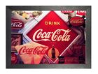 Coca-Cola 1 Logos Retro Vintage Old Advert Famous Picture Reproduction Poster £5.99  on eBay