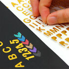 Photo Gold Letter Decor Self-adhesive Sticker for Scrapbooking DIY NewArrival BH
