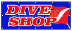"48""x120"" DIVE SHOP BANNER SIGN diving gear scuba rental sale deep sea lessons"