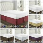 Dust Ruffle Hotel Luxury Bed Skirt 14 inch Tailored Drop Linens Bedskirt Twin image