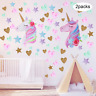 2 Pieces Unicorn Wall Decals Decor Colorful Unicorn Wall Stickers with Heart for
