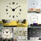 Creative Modern Home Decoration DIY Mirror Wall Sticker Clock WT88