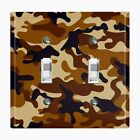 Metal Light Switch Cover Wall Plate Home Decor BROWN CAMO