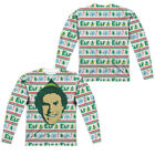 ELF FAUX UGLY SWEATER CHRISTMAS Men's Long Sleeve Graphic Tee Shirt SM-3XL
