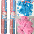 Gender Reveal Confetti Cannon Shooter Girl Pink Boy Blue Baby Party Popper x2