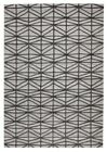 Modern Illusions Design Geo Wool Viscose Multiweave Floor Area Rug Grey