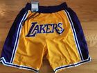 Los Angeles LA Lakers Yellow Just Don Summer League Time Team Basketball Shorts on eBay