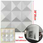 3D Wall Panel DIY Home Wall Sticker Ceiling Tiles Wallpaper Background Decal 12X