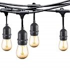 Ashialight 12 Volt Outdoor String Lights with Transformer - Low Voltage, 4W15pcs