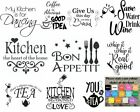 Wall art stickers for kitchen, removable Home decor, quality DIY decal quotes