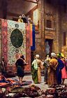 Carpet Market in Old Cairo - Arabic Art - Handmade Oil Painting On Canvas