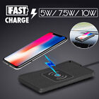Car QI Wireless Phone Charger Non-slip Pad Mat Fast Charging For iPhone