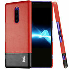 Imak For Sony Xperia 1 Leather Case Hard Back Cover With Screen Protector Film