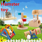 Hamster Toys Wood Seesaw Tube Tunnel House Rainbow Swing Small Animals Play Set