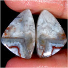 20.25Cts 100% Natural CRAZY LACE AGATE Pair Cabochon Loose Gemstones14X21MM