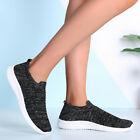 UK Womens Ladies Slip On Trainers Sport Running Comfy Sock Sneakers Shoes Sizes