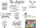 Wall Art Stickers For Kitchen, Removeable Home Decor, Quality Vinyl Decal Quotes