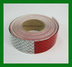"""CONSPICUITY Tape Diamond Red White DOT Safety Reflective Reflexite 2"""" X 150'"""