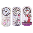 1PC Vintage Wooden Wall Clock  Hanging Kitchen Household Bar Clock Wall Mounted