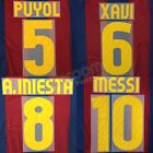 2010-11 Barcelona Player Issue Home Name Set Sipesa for Shirt Jersey