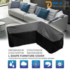 Waterproof L Shape Furniture Cover Outdoor Garden Rattan Corner Sofa Protective