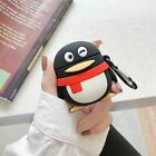 3D Bear Stitch QQ penguin Earphone Headset Airpods Case Cover For Airpod 1 2 $6.62  on eBay